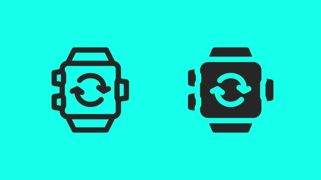 Smart Watch Loading Icons - Vector Animate
