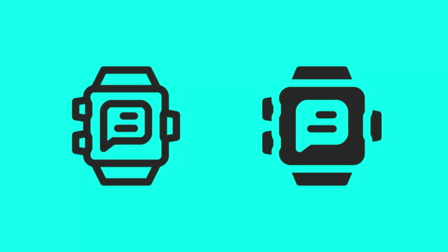 Smart Watch Messaging Icons - Vector Animate