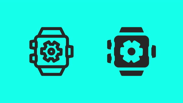 Smart Watch Setting Icons - Vector Animate