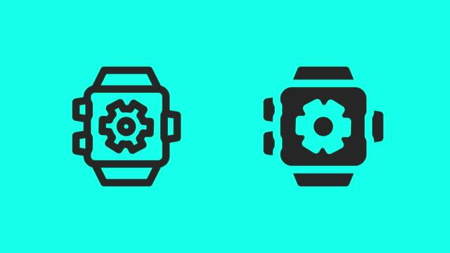 vídeos y material grabado en eventos de stock de elegante reloj configuración iconos - vector animado - vector