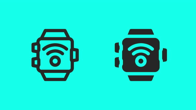 Smart Watch Wireless Icons - Vector Animate