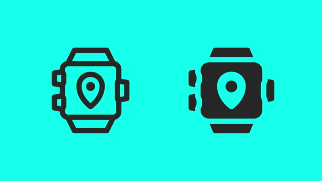 Smart Watch with GPS Icons - Vector Animate