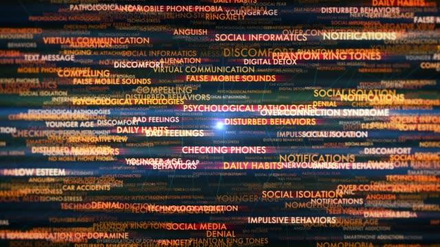 スマートフォン依存症 - 産みの苦しみ点の映像素材/bロール
