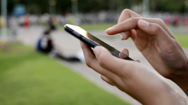 Smartphone in park