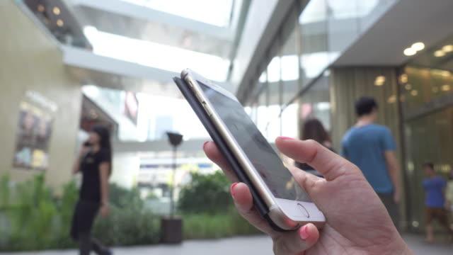smartphone mall outdoor