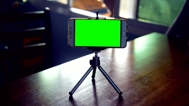 smartphone on a tripod - digital viewfinder stock videos & royalty-free footage