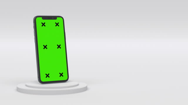 smartphone with blank green screen - blank screen stock videos & royalty-free footage