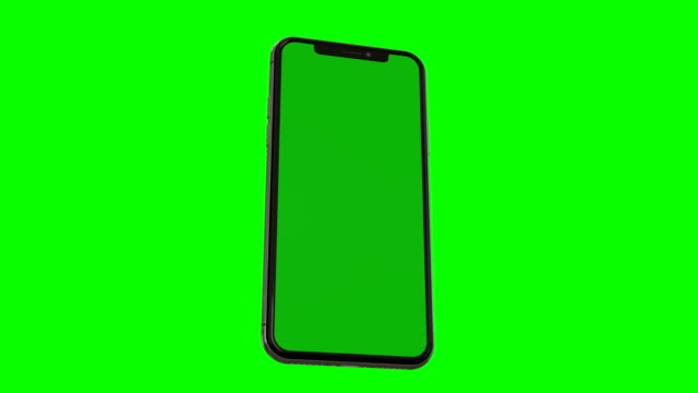 smartphone with green screen - telephone stock videos & royalty-free footage