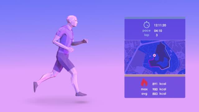 vídeos de stock, filmes e b-roll de smartrunning_loop - sistema de condução cardíaco