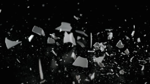 slo mo of smashing a white plate on a table - single object stock videos & royalty-free footage