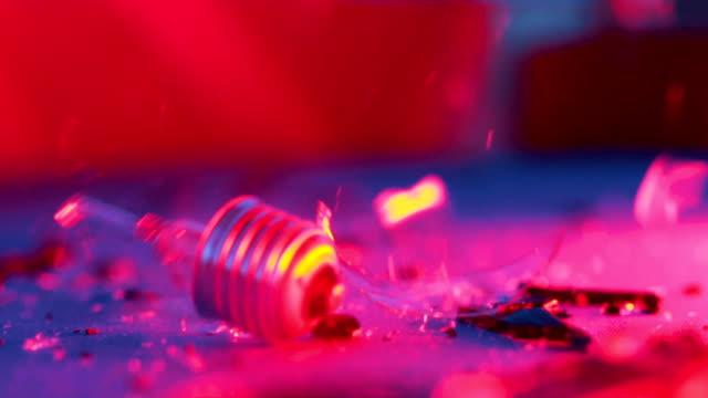 Smashing lightbulb with gavel