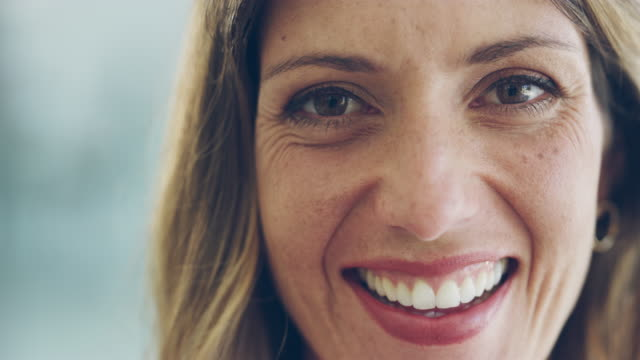 a smile creates instant confidence - facial expression stock videos & royalty-free footage