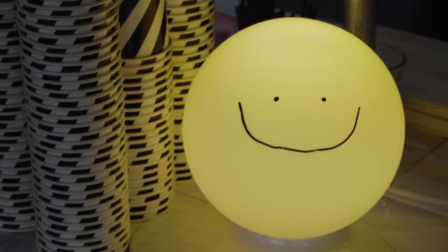 Lächeln Gesicht hell Dekor
