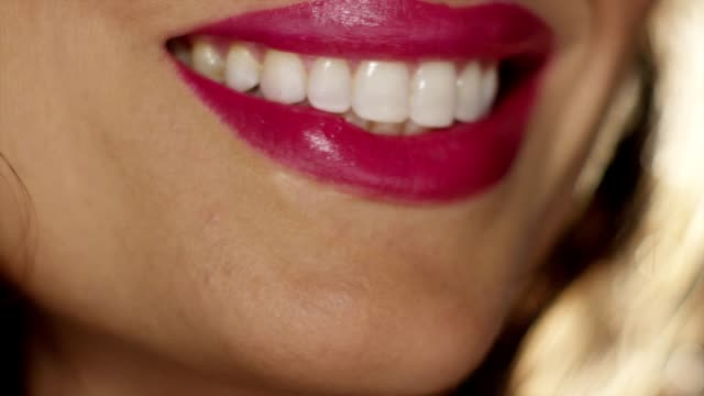 smile into focus - pink lipstick stock videos and b-roll footage