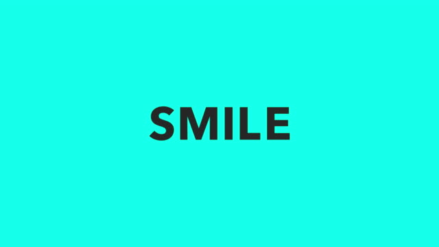 smile - vector animate - world title stock videos and b-roll footage