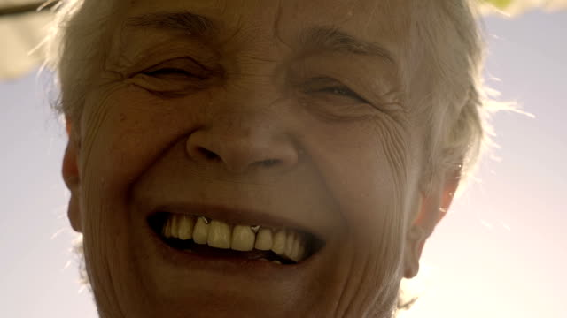 smiled old woman looking at camera - nostalgia stock videos & royalty-free footage