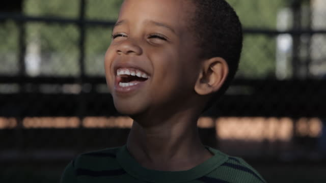 Smiling African American boy