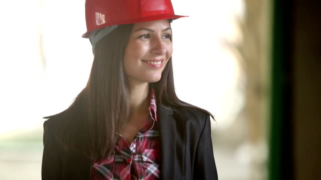 smiling architect - work helmet stock videos & royalty-free footage
