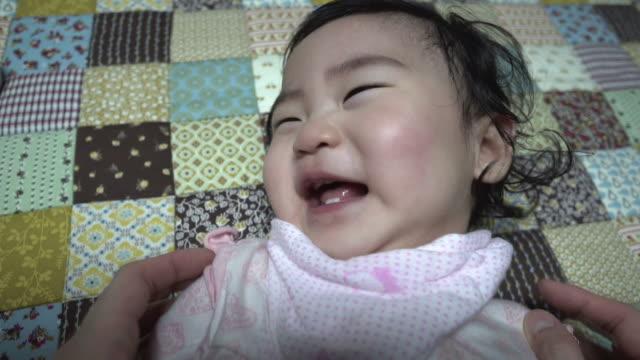 smiling baby - nursery bedroom stock videos & royalty-free footage