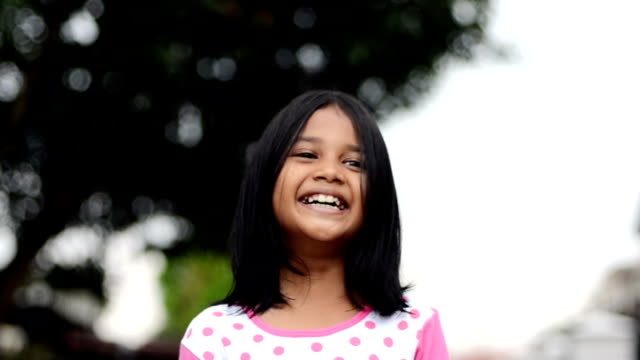 smiling girl - straight hair stock videos & royalty-free footage