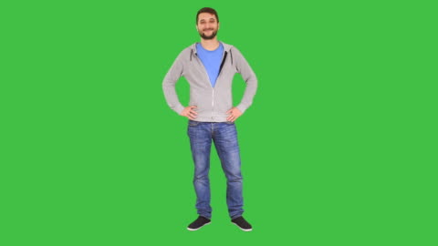 smiling man in confident pose - full length stock videos & royalty-free footage