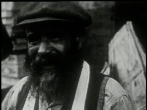 1913 cu smiling man with a beard / new york, new york, united states - 1913 stock videos & royalty-free footage