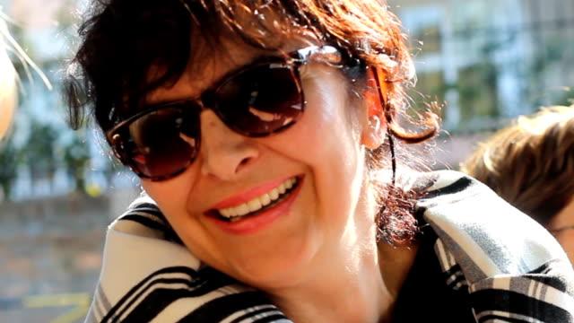 Smiling mature women outdoors
