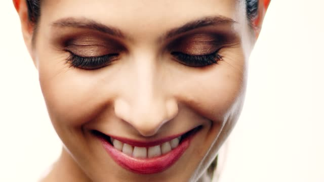 smiling middle eastern ethnicity woman face skin care - beautiful woman stock videos & royalty-free footage