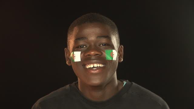 Smiling Patriotic Algeria male - HD & PAL