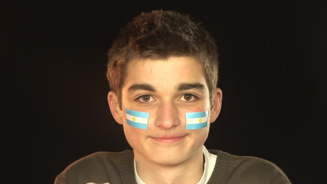Smiling Patriotic Argentina male - HD & PAL