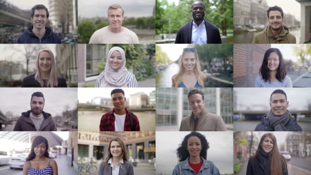 stockvideo's en b-roll-footage met glimlachende mensen over de hele wereld - multi ethnic group
