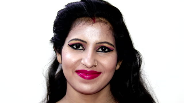 smiling portrait of young indian women - video portrait stock videos & royalty-free footage