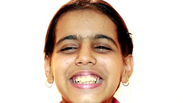 smiling teenage girl - video portrait stock videos & royalty-free footage