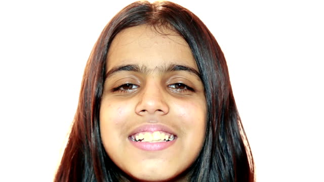 smiling teenage girl - teenagers only stock videos and b-roll footage
