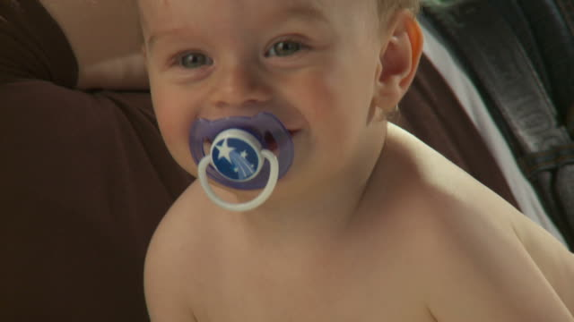 hd: smiling toddler - pacifier stock videos and b-roll footage
