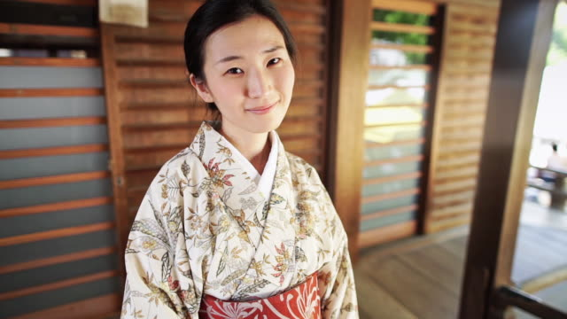 smiling woman in temple - shibamata stock videos & royalty-free footage