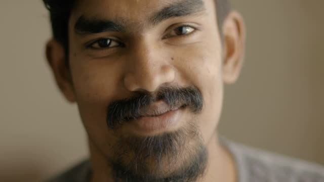 smiling young man portrait - indian ethnicity stock videos & royalty-free footage