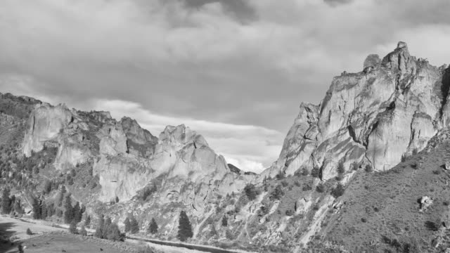 smith rocks day pan - greyscale stock videos & royalty-free footage