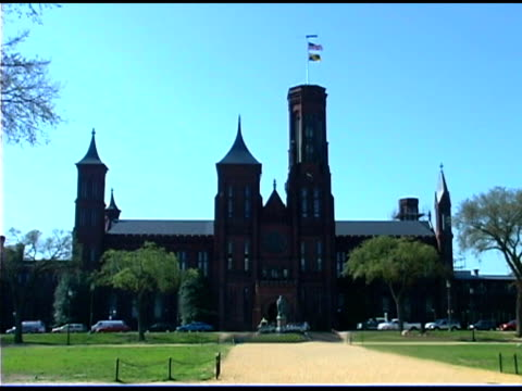 smithsonian castle, washington dc - the castle stock videos and b-roll footage