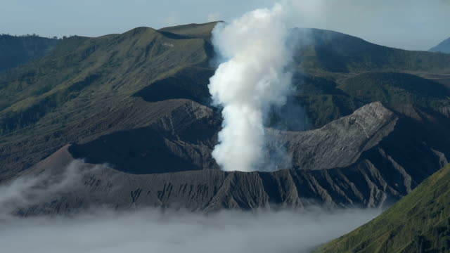 Smog of Bromo Volcano Crater mountain Nature Travel Place Of Indonesia