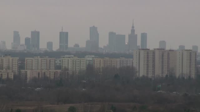 smog over warsaw - warsaw stock videos & royalty-free footage