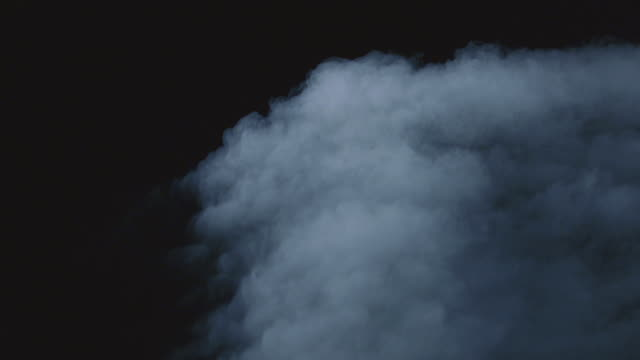 smoke against black (special effect) - black colour stock videos & royalty-free footage