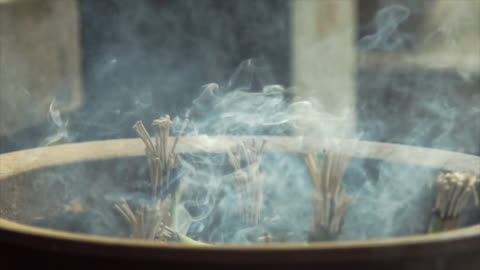 smoke and incense at shrine - japan - shrine stock videos & royalty-free footage