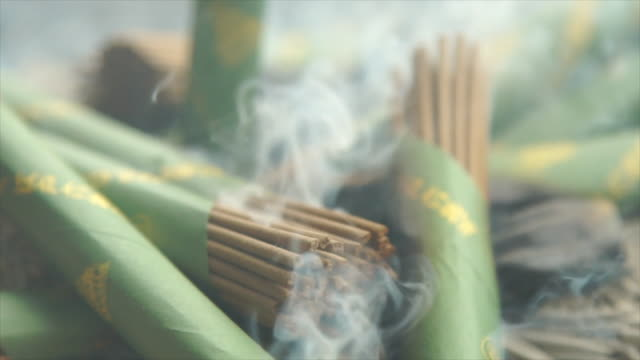 smoke and incense at shrine - japan - incense stock videos & royalty-free footage