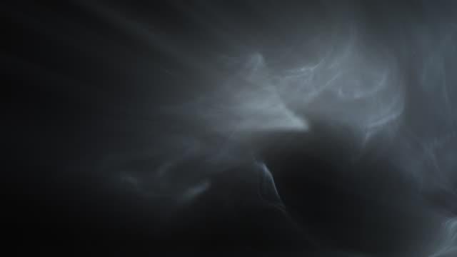 fumo e luce - nebbia video stock e b–roll