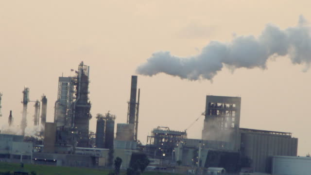 smoke billowing from a factory - corpus christi texas stock videos & royalty-free footage