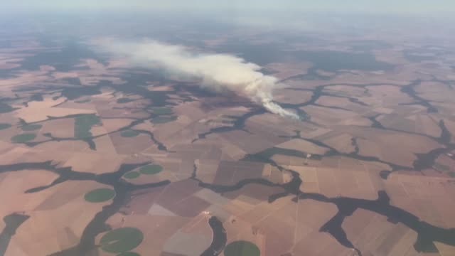 smoke billows from fires in soybean fields close to the amazon rainforest in brazil's mato grosso region, as official data show that the number of... - rainforest stock videos & royalty-free footage