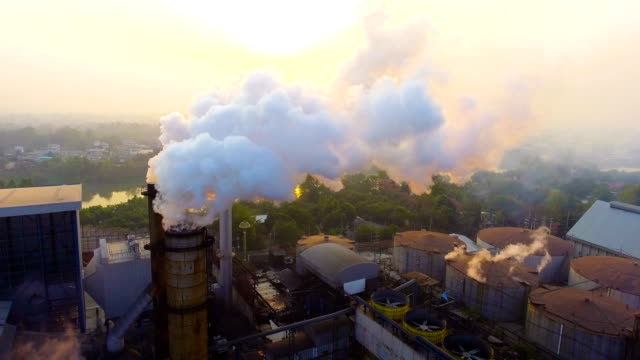 smoke chimneys with white smoke while sugar produce - tower stock videos & royalty-free footage