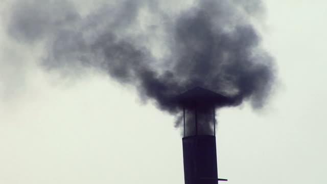 ms smoke coming out of chimney / bhiwadi, rajasthan, india - smoke stack stock videos & royalty-free footage
