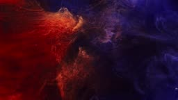 smoke flow magic fire flames fume motion blue red